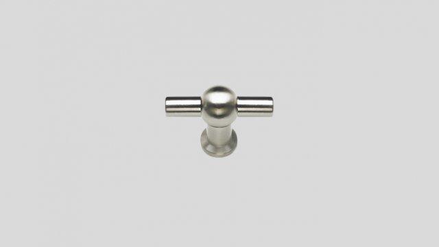 678 Металлическая ручка-кнопка под нержавеющую сталь