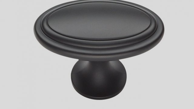 679 Металлическая ручка-кнопка чёрный